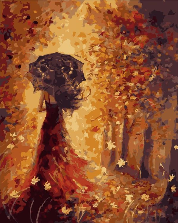 Картина по номерам «Осенняя фея» Йовки МечкаровойРаскраски по номерам<br><br>