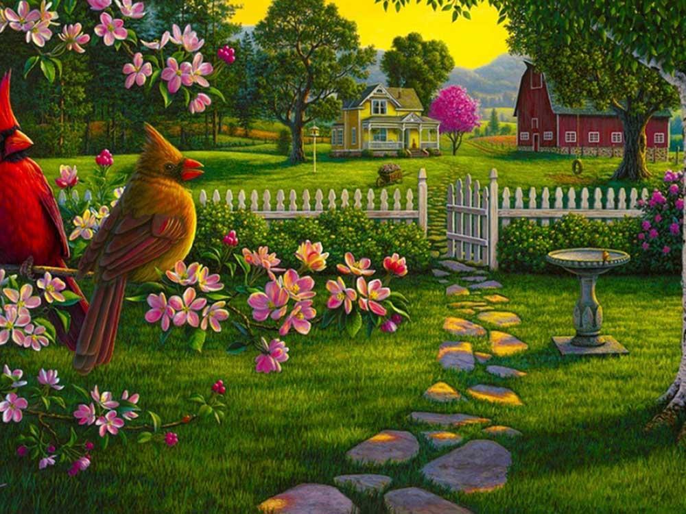 Картина по номерам «Сельский пейзаж» Кима НорлиенаРаскраски по номерам Color Kit<br><br><br>Артикул: KS038<br>Основа: Картон<br>Сложность: сложные<br>Размер: 30x40 см<br>Количество цветов: 16<br>Техника рисования: Без смешивания красок