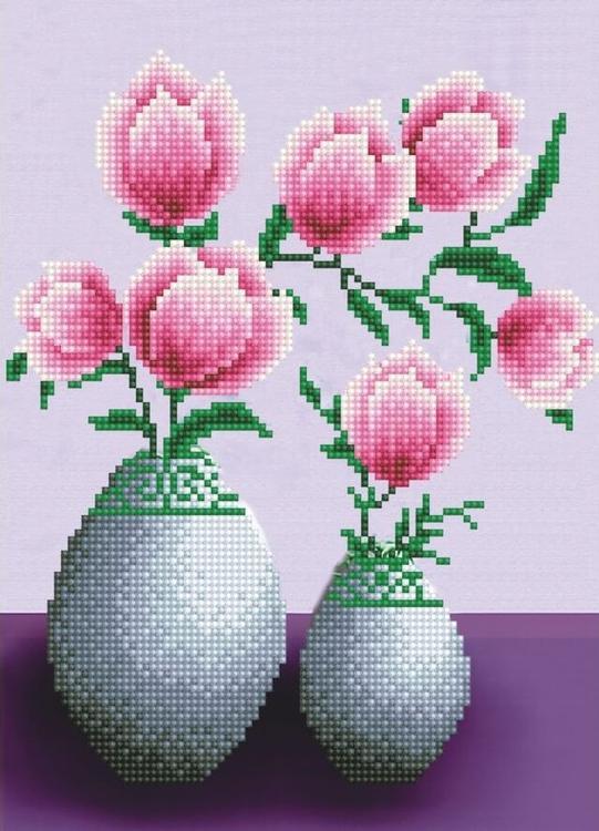 Алмазная вышивка «Тюльпаны»Цветной<br>Обновленная серия алмазной мозаики от бренда Цветной - это яркие популярные сюжеты и расширенная комплектация качественными составляющими. <br><br><br>Особенности алмазной вышивки от Цветной:<br><br>тканевый холст имеет ярко выраженную приятную на ощупь бархатисту...<br><br>Артикул: LEP001<br>Основа: Холст на подрамнике<br>Сложность: легкие<br>Размер: 30x40 см<br>Выкладка: Частичная<br>Количество цветов: 17<br>Тип страз: Круглые непрозрачные (акриловые)