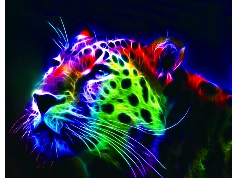 Алмазная вышивка «Неоновый леопард»Цветной<br>Обновленная серия алмазной мозаики от бренда Цветной - это яркие популярные сюжеты и расширенная комплектация качественными составляющими. <br><br><br>Особенности алмазной вышивки от Цветной:<br><br>тканевый холст имеет ярко выраженную приятную на ощупь бархатисту...<br><br>Артикул: LG015<br>Основа: Холст на подрамнике<br>Сложность: очень сложные<br>Размер: 40x50 см<br>Выкладка: Полная<br>Количество цветов: 30<br>Тип страз: Круглые непрозрачные (акриловые)