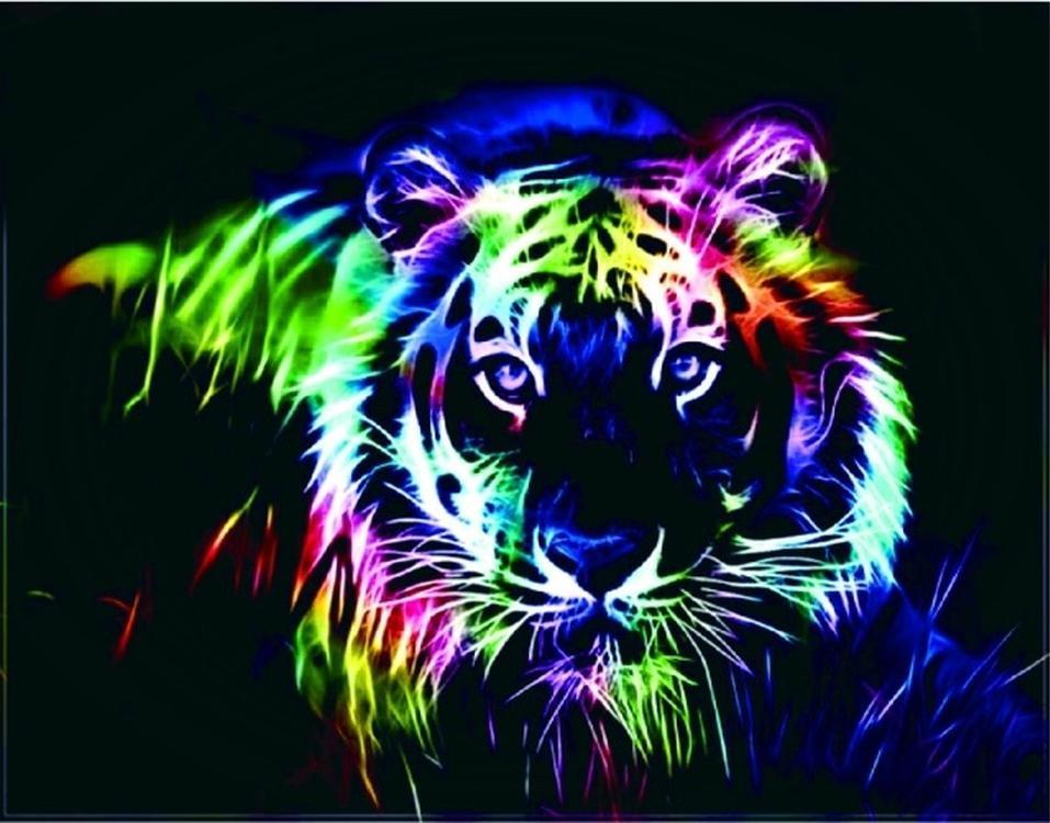 Алмазная вышивка «Неоновый тигр»Цветной<br>Обновленная серия алмазной мозаики от бренда Цветной - это яркие популярные сюжеты и расширенная комплектация качественными составляющими. <br><br><br>Особенности алмазной вышивки от Цветной:<br><br>тканевый холст имеет ярко выраженную приятную на ощупь бархатисту...<br><br>Артикул: LG017<br>Основа: Холст на подрамнике<br>Сложность: очень сложные<br>Размер: 40x50 см<br>Выкладка: Полная<br>Количество цветов: 38<br>Тип страз: Круглые непрозрачные (акриловые)