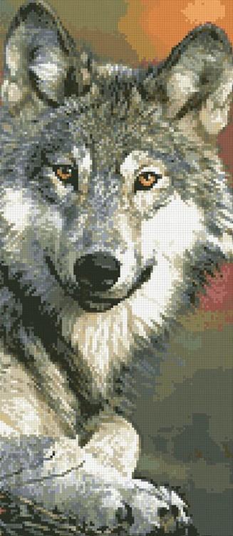 Алмазная вышивка «Волк»Алмазная вышивка Паутинка<br><br><br>Артикул: М-357<br>Основа: Холст без подрамника<br>Сложность: сложные<br>Размер: 25x55 см<br>Выкладка: Полная<br>Количество цветов: 31<br>Тип страз: Квадратные