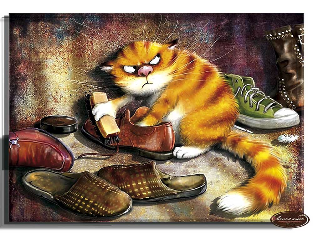 """Папертоль «Рыжий кот»Магия Хобби<br>Техника папертоль - объемное 3D-изображение из бумаги, созданное собственноручно. Простая в исполнении, но очень необычная техника. Набор содержит:<br> - разобранное """"по слоям"""" изображение картины, выполненное на качественной плотной бумаге;<br> - инструкцию ...<br>"""