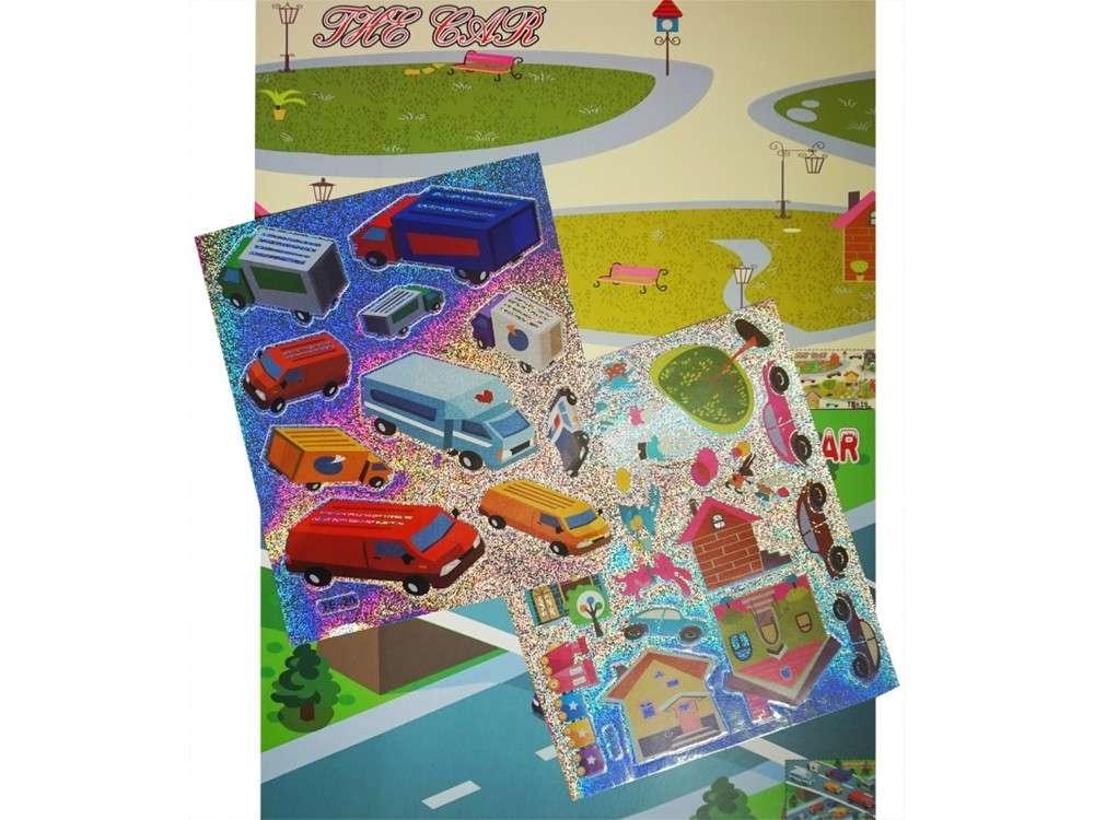 Мозаика из стикеров «Машинки»Мозаика из стикеров<br>Процесс создания мозаики прост:<br> - отделите наклейку от общего блока;<br> - приклейте ее на место, указанное на сюжете. <br>Также вы можете пофантазировать и создать исключительно свою картину, расположив персонажей так, как захочется.<br><br>Артикул: SD-TE-19-20<br>Основа: Картон<br>Размер: 21x10 см<br>Возраст: от 3 лет