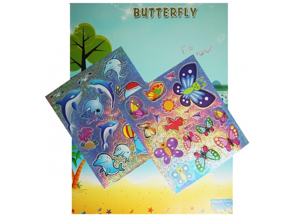 Мозаика из стикеров «Дельфины и бабочки»