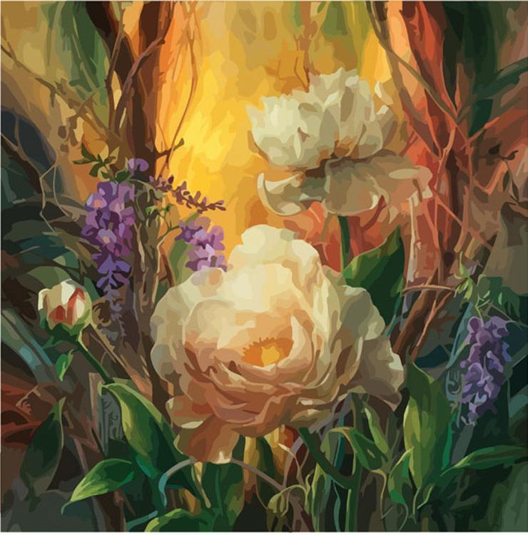 Картина по номерам «Пион» Ви Данн-ХаррРаскраски по номерам<br><br>