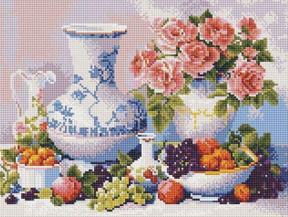 Алмазная вышивка «Натюрморт с фруктами» Триши ХардвикАлмазная вышивка Painting Diamond<br><br><br>Артикул: EF297<br>Основа: Холст на подрамнике<br>Сложность: сложные<br>Размер: 30x40 см<br>Выкладка: Полная<br>Количество цветов: 28<br>Тип страз: Квадратные