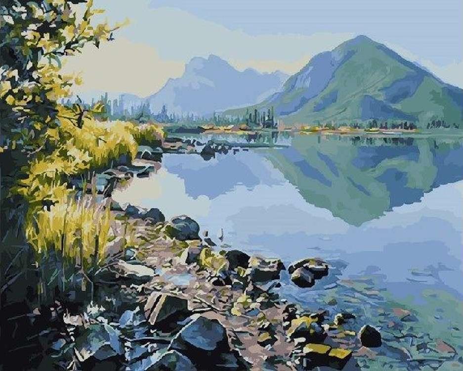 Картина по номерам «Водная гладь» Ричарда Мравика