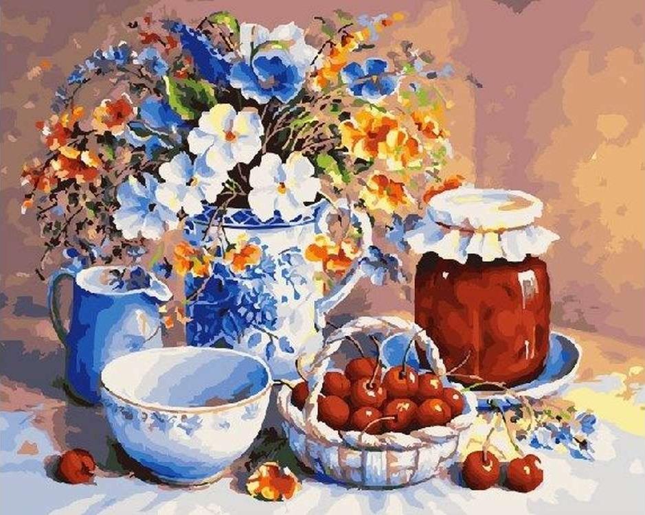 Картина по номерам «Вишневое варенье» Триши ХардвикРаскраски по номерам<br><br>