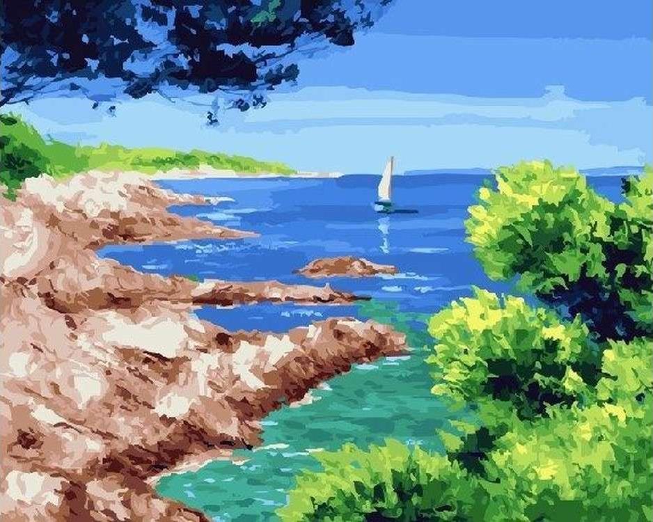 Картина по номерам «Скальный берег» Жан Марка ЖаньячикаРаскраски по номерам<br><br>