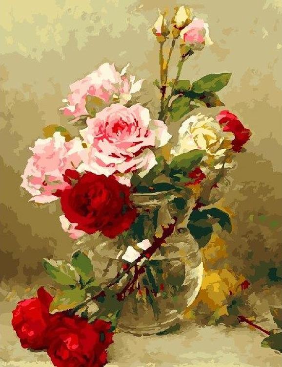 Картина по номерам «Колючие розы»Paintboy (Premium)<br><br><br>Артикул: GX22210<br>Основа: Холст<br>Сложность: сложные<br>Размер: 40x50 см<br>Количество цветов: 28<br>Техника рисования: Без смешивания красок