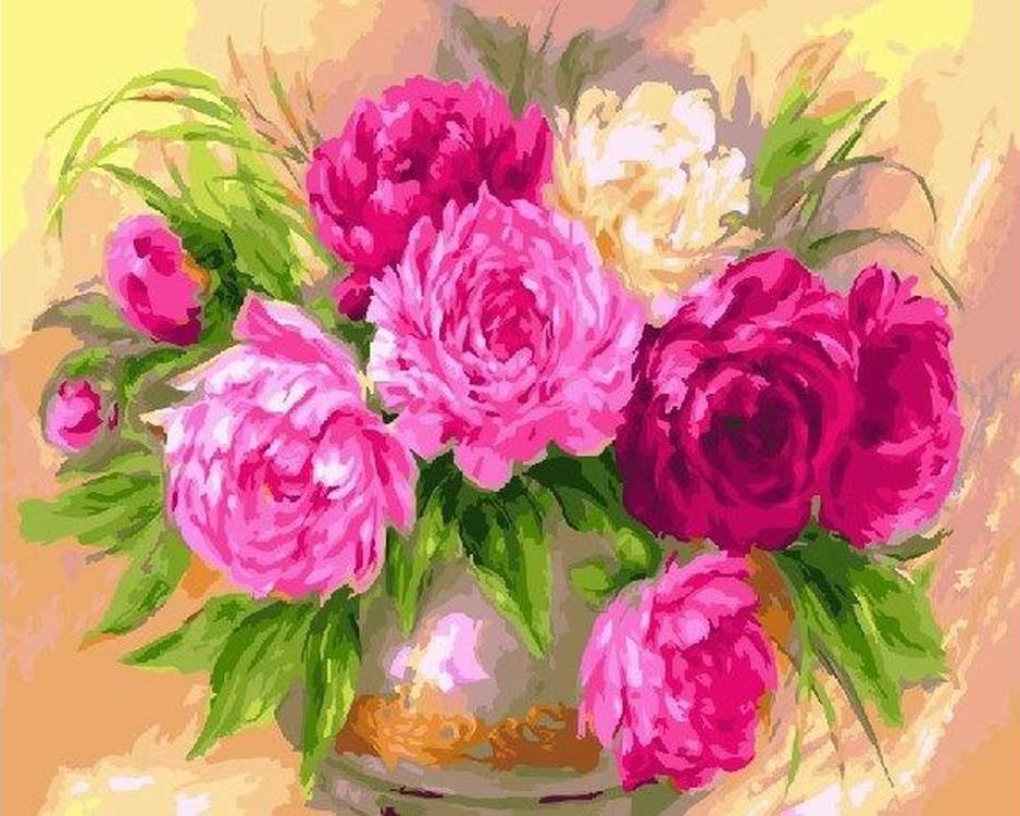 Картина по номерам «Красота пионов»Paintboy (Premium)<br><br><br>Артикул: GX22606<br>Основа: Холст<br>Сложность: сложные<br>Размер: 40x50 см<br>Количество цветов: 29<br>Техника рисования: Без смешивания красок