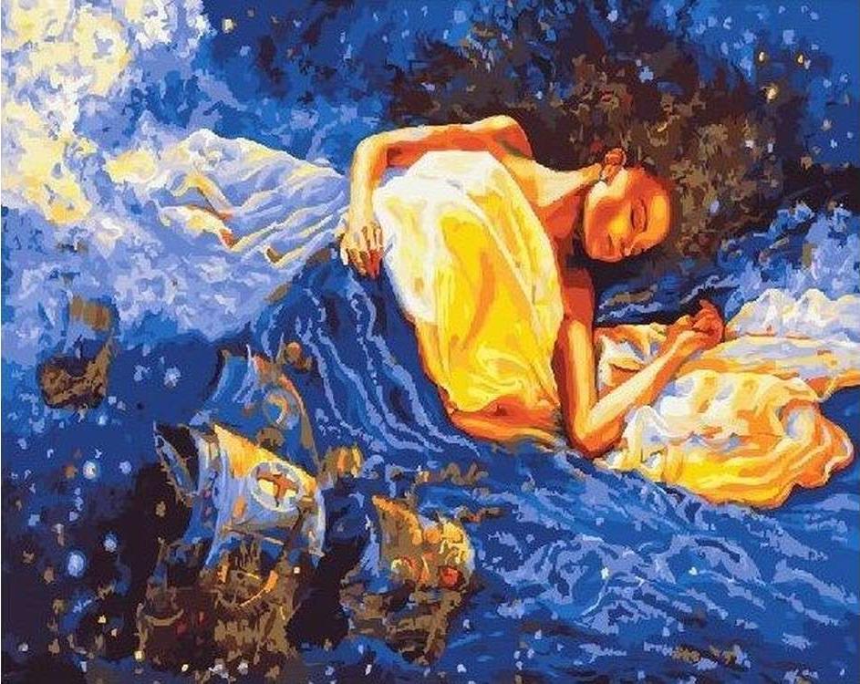 Картина по номерам «Корабли моих снов»Paintboy (Premium)<br><br><br>Артикул: GX23094<br>Основа: Холст<br>Сложность: средние<br>Размер: 40x50 см<br>Количество цветов: 27<br>Техника рисования: Без смешивания красок