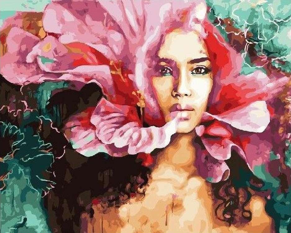 Картина по номерам «Девушка-цветок» Димитры МиланPaintboy (Premium)<br><br><br>Артикул: GX23095<br>Основа: Холст<br>Сложность: сложные<br>Размер: 40x50 см<br>Количество цветов: 29<br>Техника рисования: Без смешивания красок