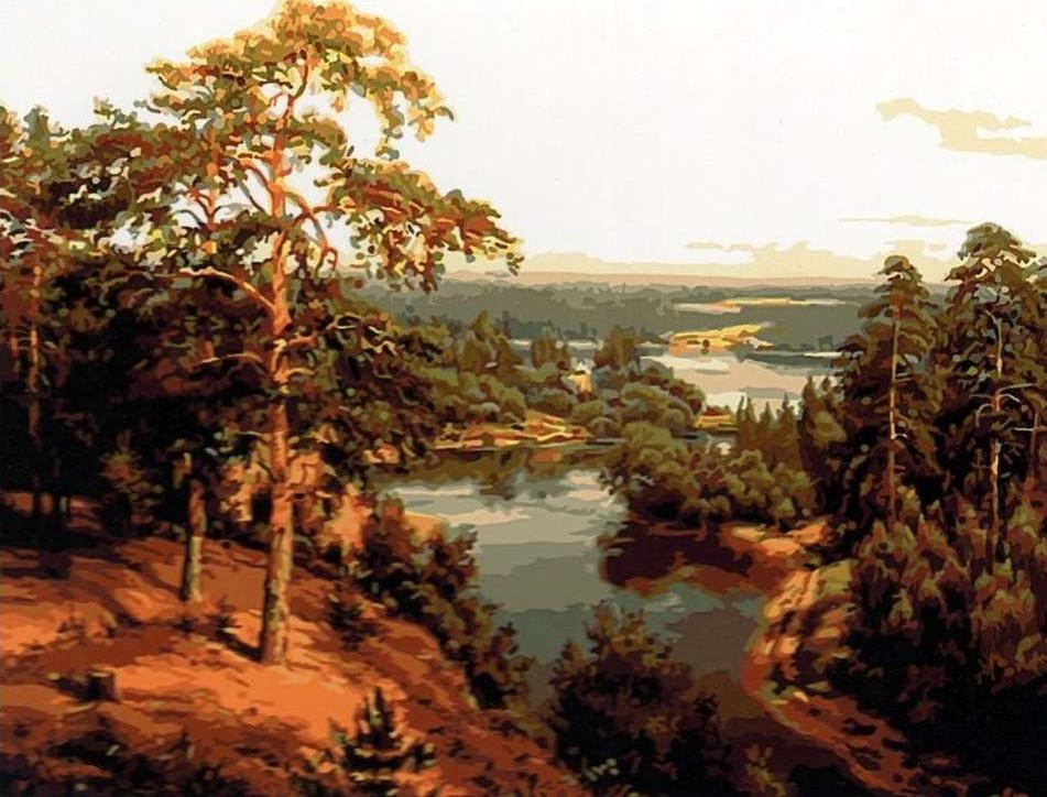 Картина по номерам «Тихий русский пейзаж» Игоря ПрищепыРаскраски по номерам<br><br>