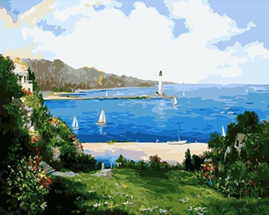 Картина по номерам «Морской пляж»Paintboy (Premium)<br><br><br>Артикул: GX4577<br>Основа: Холст<br>Сложность: средние<br>Размер: 40x50 см<br>Количество цветов: 25<br>Техника рисования: Без смешивания красок