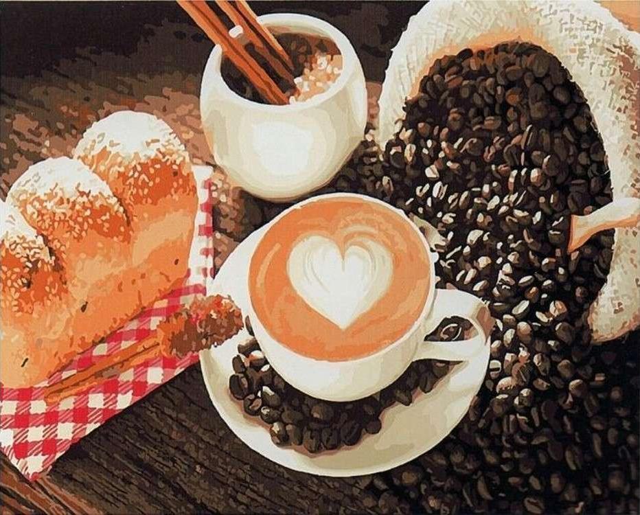 Картина по номерам «Утренний кофе»Paintboy (Premium)<br><br><br>Артикул: GX4875<br>Основа: Холст<br>Сложность: средние<br>Размер: 40x50 см<br>Количество цветов: 21<br>Техника рисования: Без смешивания красок