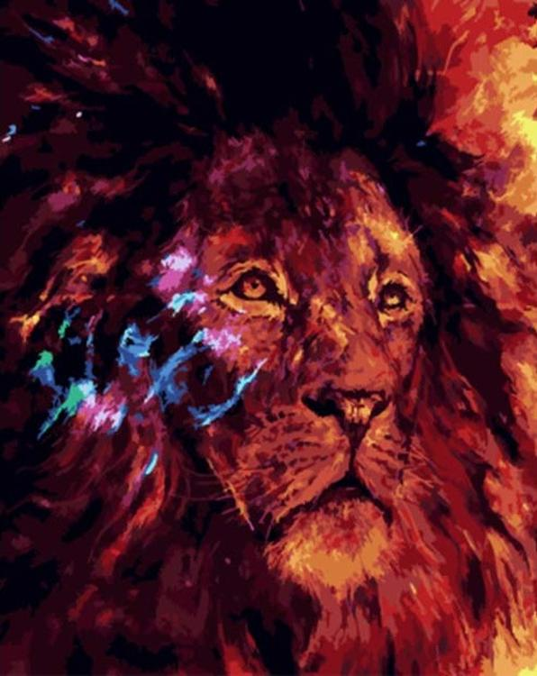Картина по номерам «Лев»Paintboy (Premium)<br><br><br>Артикул: GX4919<br>Основа: Холст<br>Сложность: легкие<br>Размер: 40x50 см<br>Количество цветов: 19<br>Техника рисования: Без смешивания красок