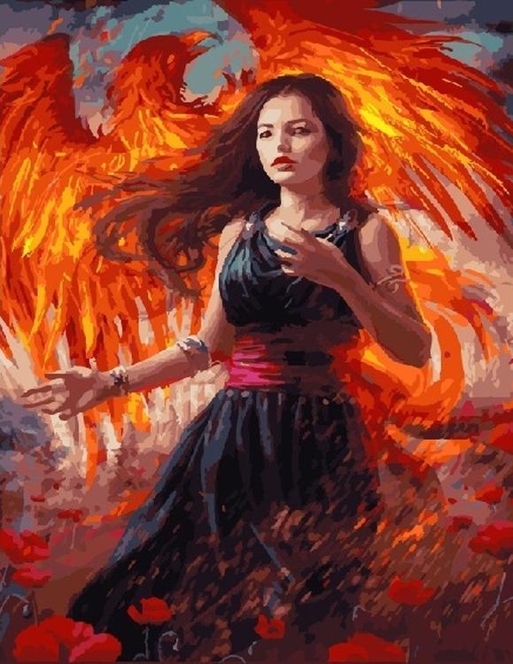 Картина по номерам «Последний феникс» Лауры СаваPaintboy (Premium)<br><br>