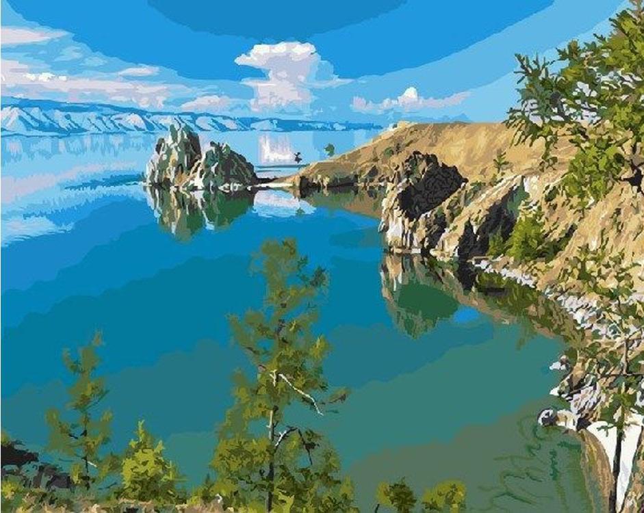 Картина по номерам «Озеро Байкал»Molly<br><br>