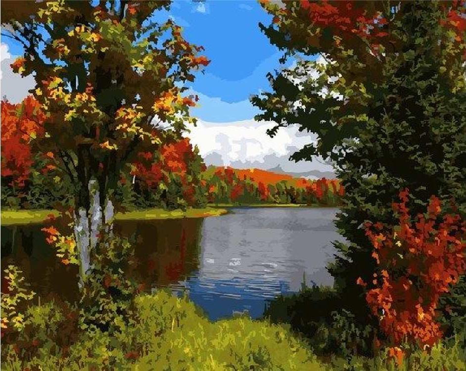 Картина по номерам «Начало осени»Paintboy (Premium)<br><br><br>Артикул: GX5178<br>Основа: Холст<br>Сложность: средние<br>Размер: 40x50 см<br>Количество цветов: 27<br>Техника рисования: Без смешивания красок