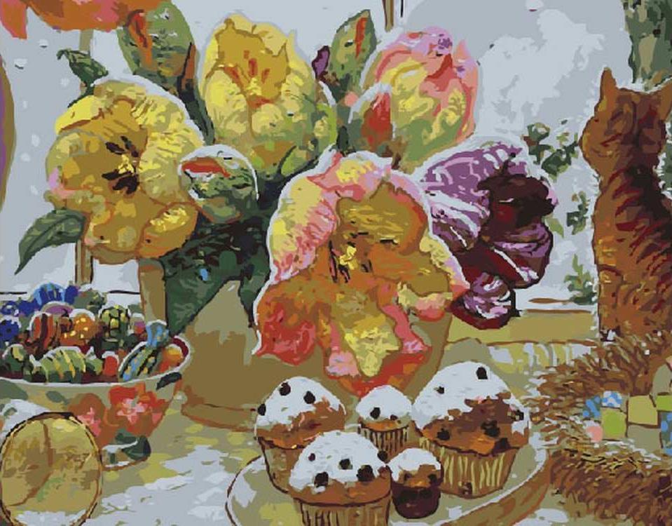Картина по номерам «Ожидание праздника» Виктора НизовцеваPaintboy (Premium)<br><br><br>Артикул: GX5301<br>Основа: Холст<br>Сложность: сложные<br>Размер: 40x50 см<br>Количество цветов: 30<br>Техника рисования: Без смешивания красок