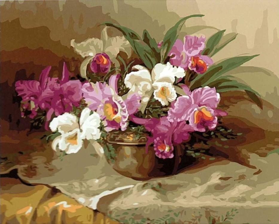 Картина по номерам «Нежность в вазе» Джулиена СтапперсаPaintboy (Premium)<br><br><br>Артикул: GX5333<br>Основа: Холст<br>Сложность: сложные<br>Размер: 40x50 см<br>Количество цветов: 29<br>Техника рисования: Без смешивания красок