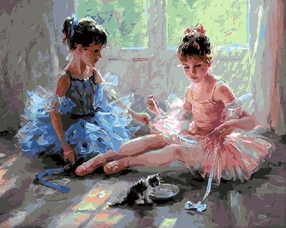 Купить Картина по номерам «Юные балерины» Константина Разумова, Paintboy (Premium)