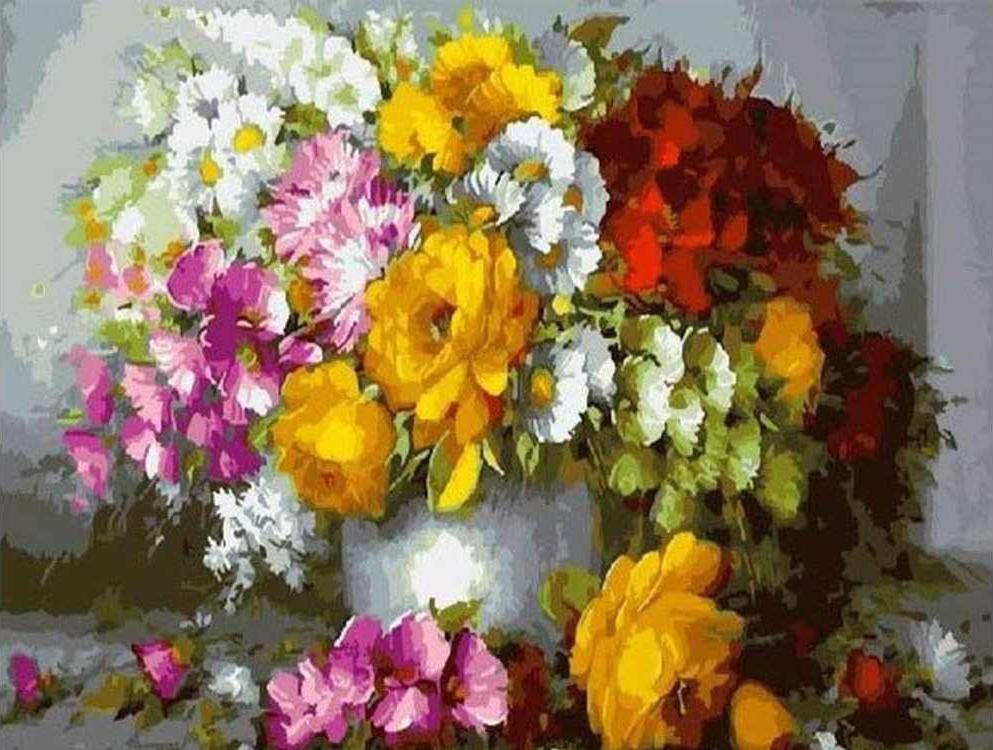 Картина по номерам «Чудесный букет» Хорхе МасьеляPaintboy (Premium)<br><br><br>Артикул: GX5421<br>Основа: Холст<br>Сложность: сложные<br>Размер: 40x50 см<br>Количество цветов: 28<br>Техника рисования: Без смешивания красок