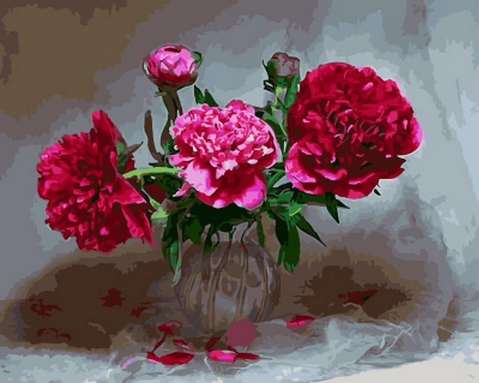 Картина по номерам «Цветы в тени»Раскраски по номерам<br><br>