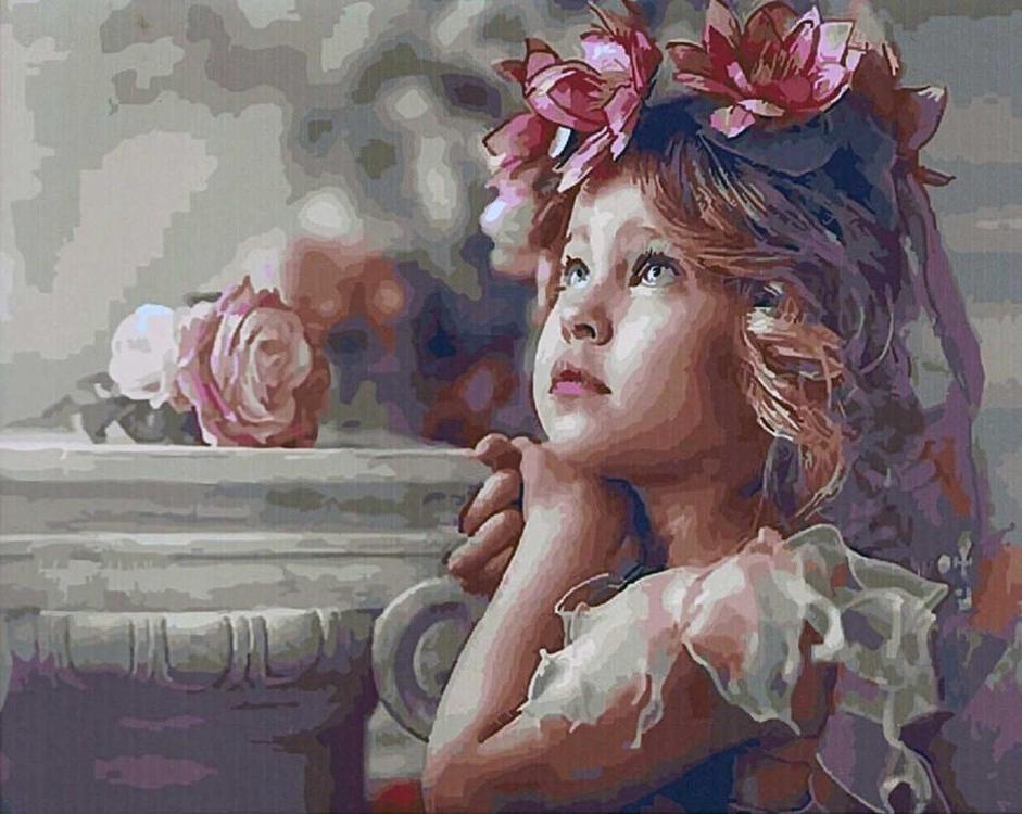 Картина по номерам «Детские мечты» Натальи ЗаконовойPaintboy (Premium)<br><br><br>Артикул: GX5516<br>Основа: Холст<br>Сложность: сложные<br>Размер: 40x50 см<br>Количество цветов: 28<br>Техника рисования: Без смешивания красок
