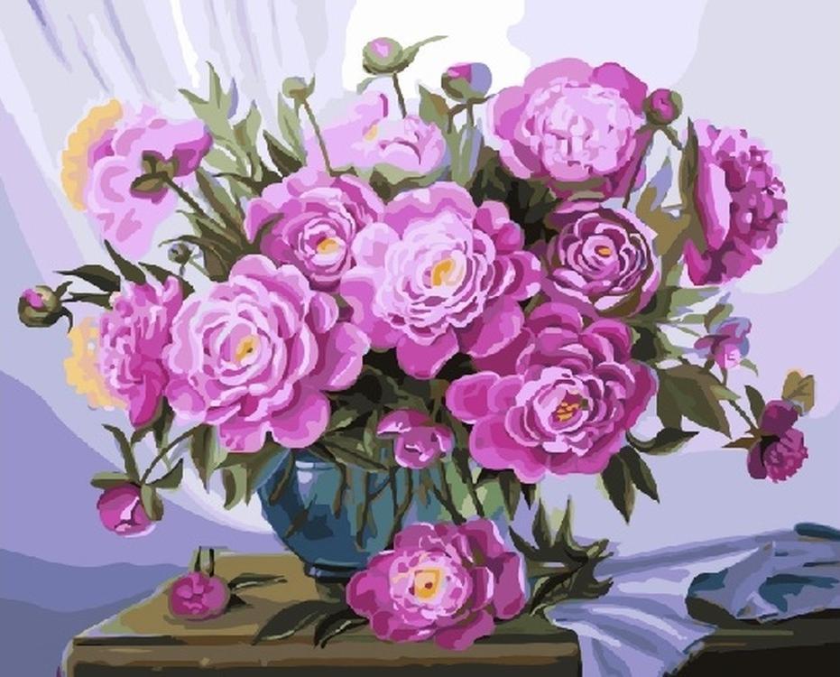 Картина по номерам «Розовые пионы» Валентины ВалевскойPaintboy (Premium)<br><br><br>Артикул: GX5583<br>Основа: Холст<br>Сложность: сложные<br>Размер: 40x50 см<br>Количество цветов: 33<br>Техника рисования: Без смешивания красок