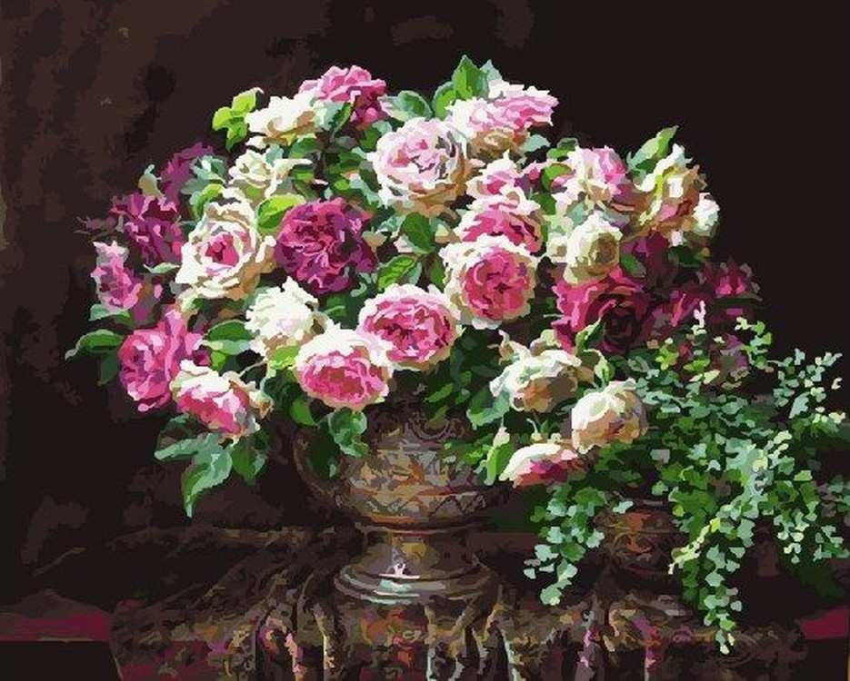 Картина по номерам «Античные розы» Энн МортонPaintboy (Premium)<br><br>