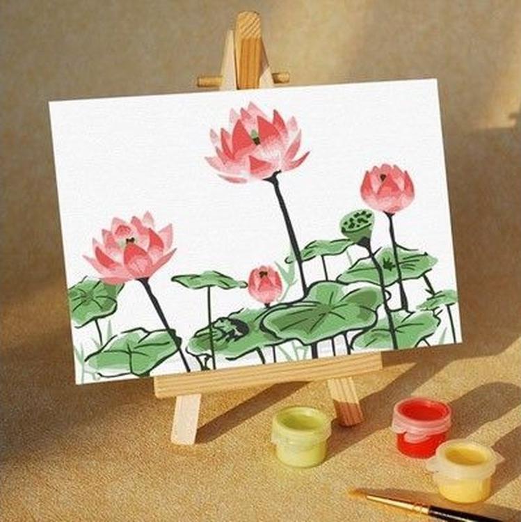 Картина по номерам «Кувшинки»Цветной (Premium)<br>Весенние цветы<br>