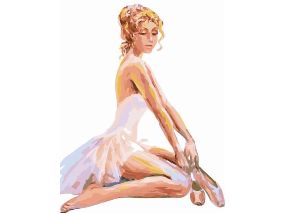 Картина по номерам  «Сидящая балерина»Раскраски по номерам<br><br>