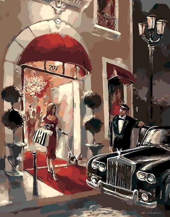 Картина по номерам «Красная дорожка»Цветной (Premium)<br><br>