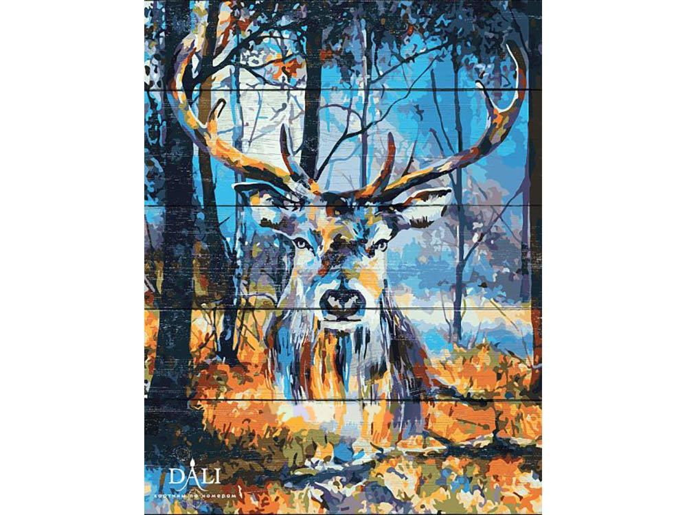 Купить Картина по номерам по дереву Dali «Сказочный олень»
