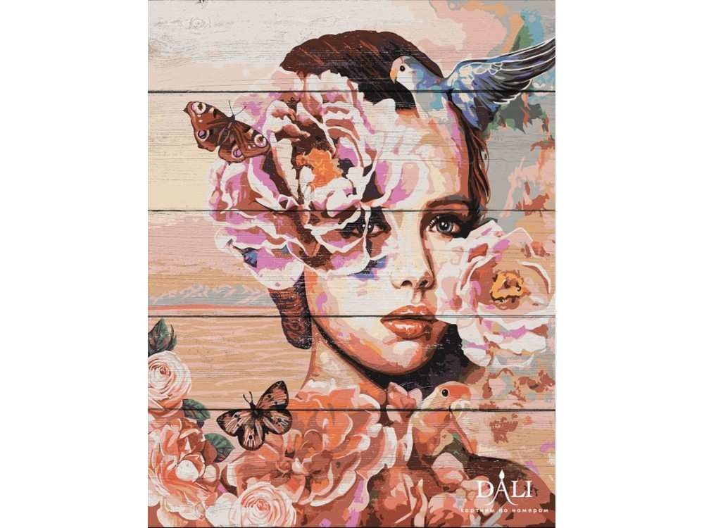Купить Картина по номерам по дереву Dali «Весна» Димитры Милан