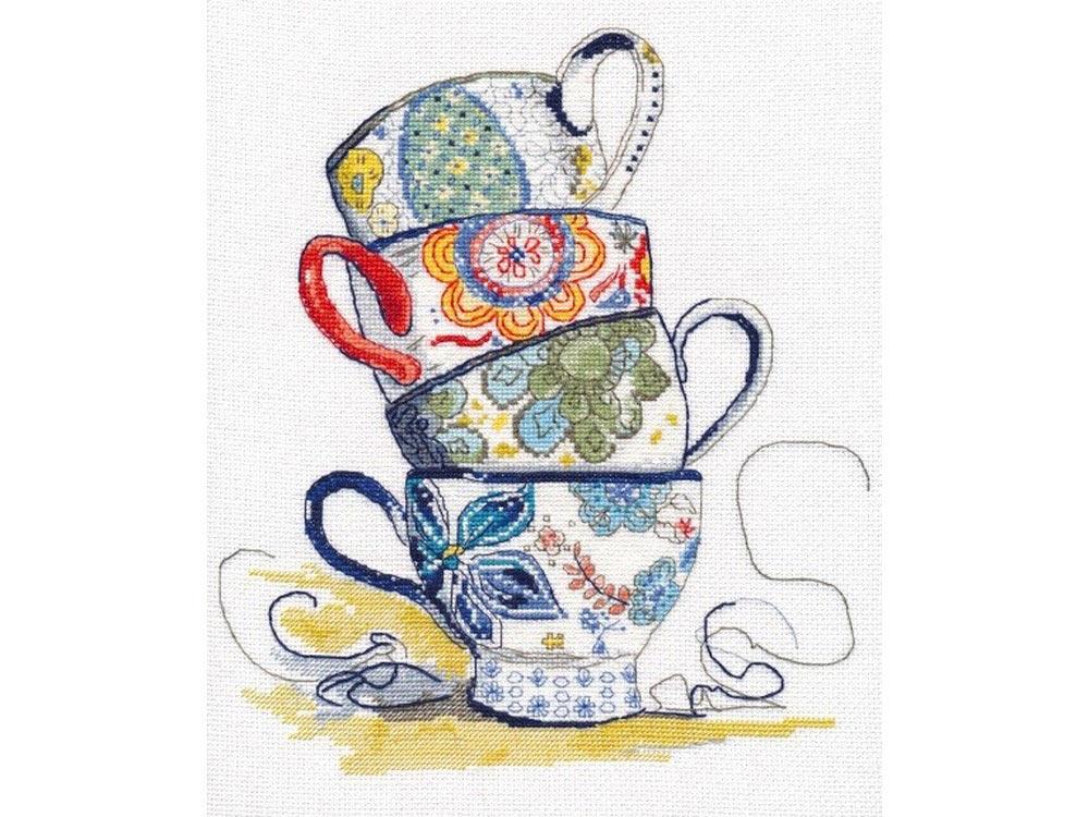 Набор для вышивания «Чайная коллекция»Вышивка крестом Овен<br><br><br>Артикул: 1034<br>Основа: канва Aida 16<br>Размер: 21x25 см<br>Техника вышивки: счетный крест<br>Тип схемы вышивки: Цветная схема<br>Цвет канвы: Белый<br>Количество цветов: 17<br>Заполнение: Частичное<br>Рисунок на канве: не нанесён<br>Техника: Вышивка крестом