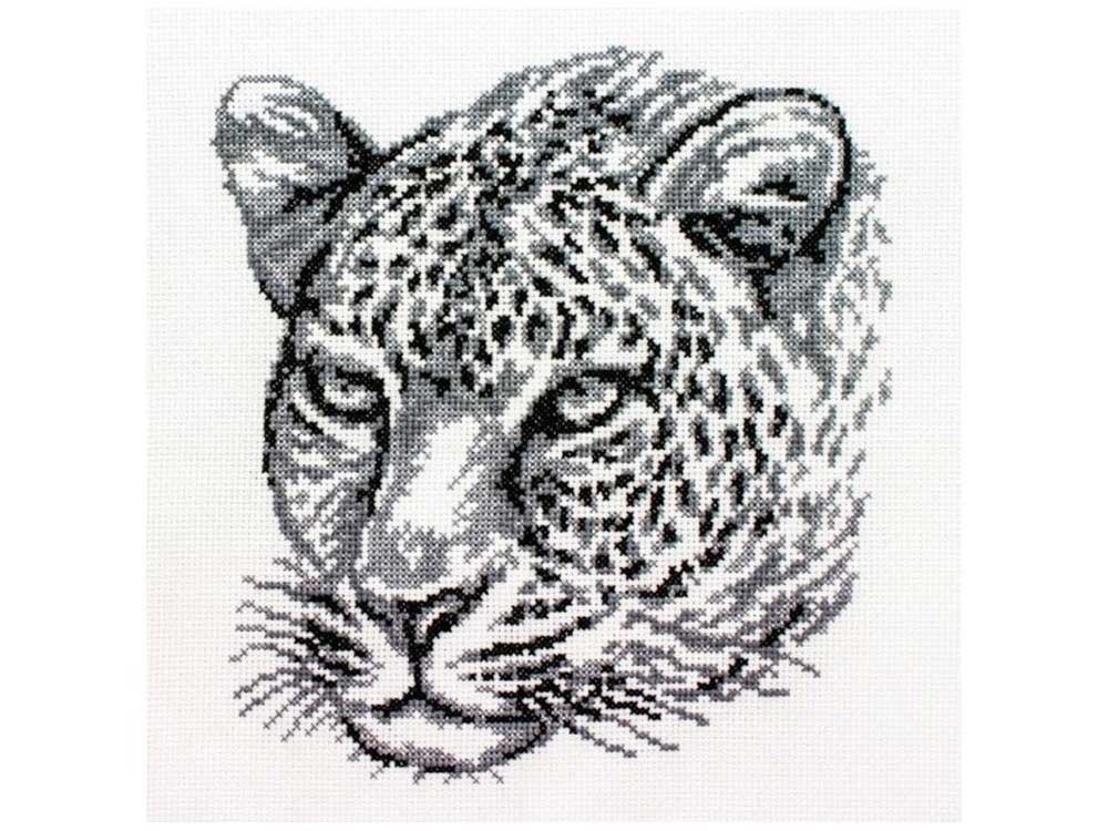 Набор для вышивания «Леопард»Белоснежка<br><br><br>Артикул: 186-14<br>Основа: канва Aida 14<br>Сложность: средние<br>Размер: 20x21,5 см<br>Техника вышивки: счетный крест<br>Тип схемы вышивки: Цветная схема<br>Количество крестиков: 113x119<br>Цвет канвы: Белый<br>Количество цветов: 2<br>Художник, дизайнер: Владимир Краснощеков<br>Рисунок на канве: не нанесён<br>Техника: Вышивка крестом