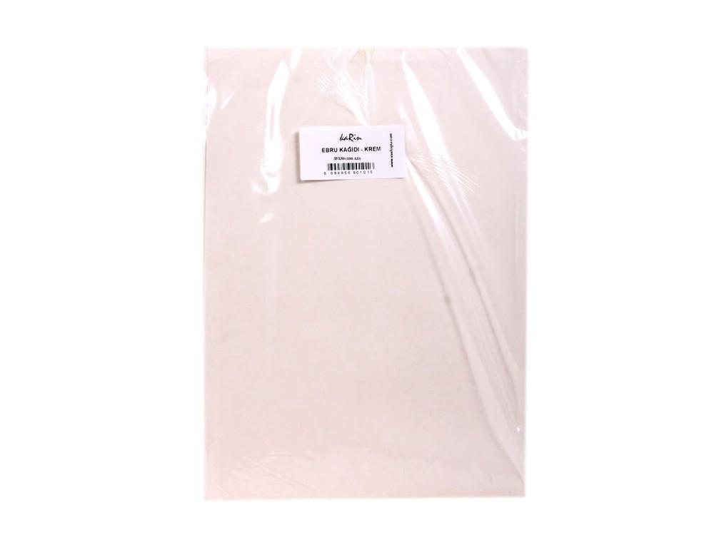 Бумага для эбру светло-кремовая 35x50 см (100 листов), Karin