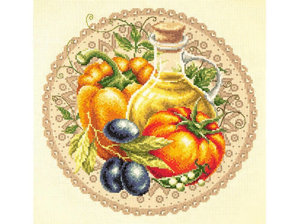 Купить Вышивка крестом, Набор для вышивания «Средиземноморский салат», Чудесная игла