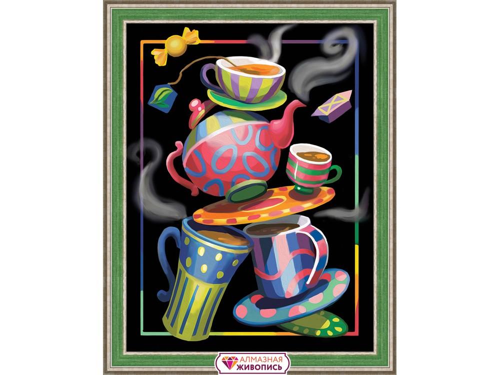 Алмазная вышивка «Чайная фантазия»Алмазная Живопись<br><br><br>Артикул: АЖ-1581<br>Основа: Холст без подрамника<br>Сложность: сложные<br>Размер: 30x40 см<br>Выкладка: Полная<br>Количество цветов: 38<br>Тип страз: Квадратные
