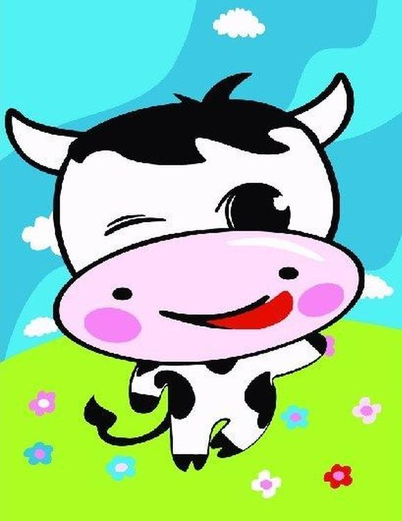 Картина по номерам «Веселая корова»Paintboy (Premium)<br><br><br>Артикул: CX2012<br>Основа: Холст<br>Сложность: очень легкие<br>Размер: 20x30 см<br>Количество цветов: 8<br>Техника рисования: Без смешивания красок