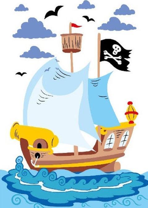 Картина по номерам «Пиратский корабль»Molly<br><br>