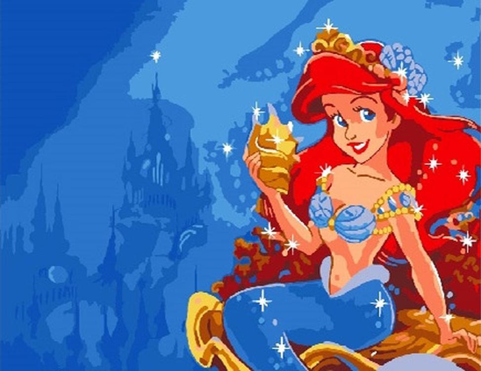 Картина по номерам «Принцесса Ариэль»Paintboy (Premium)<br><br><br>Артикул: CX3277<br>Основа: Холст<br>Сложность: легкие<br>Размер: 20x30 см<br>Количество цветов: 14<br>Техника рисования: Без смешивания красок