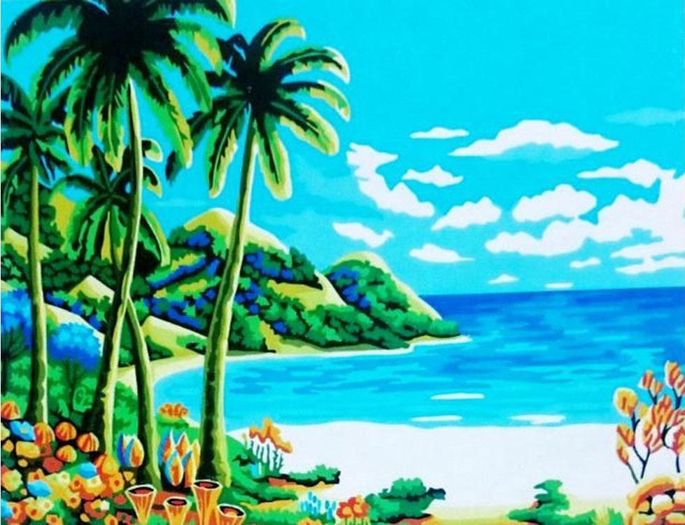 Картина по номерам «Морское побережье»Paintboy (Premium)<br><br>