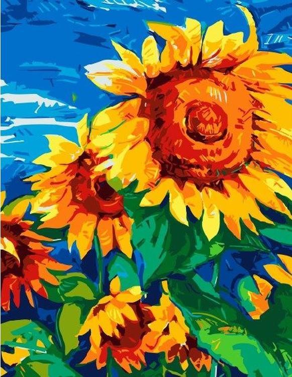 Картина по номерам «Подсолнушки» Ивайло НиколоваPaintboy (Premium)<br><br><br>Артикул: EX5711<br>Основа: Холст<br>Сложность: легкие<br>Размер: 30x40 см<br>Количество цветов: 16<br>Техника рисования: Без смешивания красок