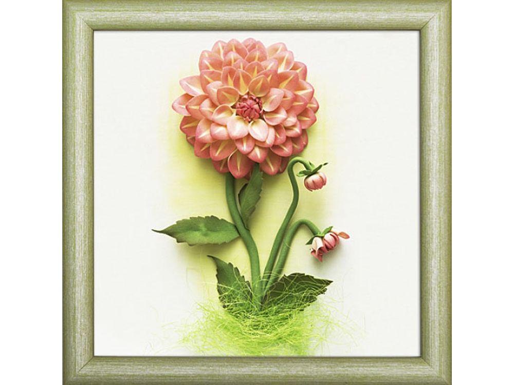 3D-картина из фоамирана «Георгины»