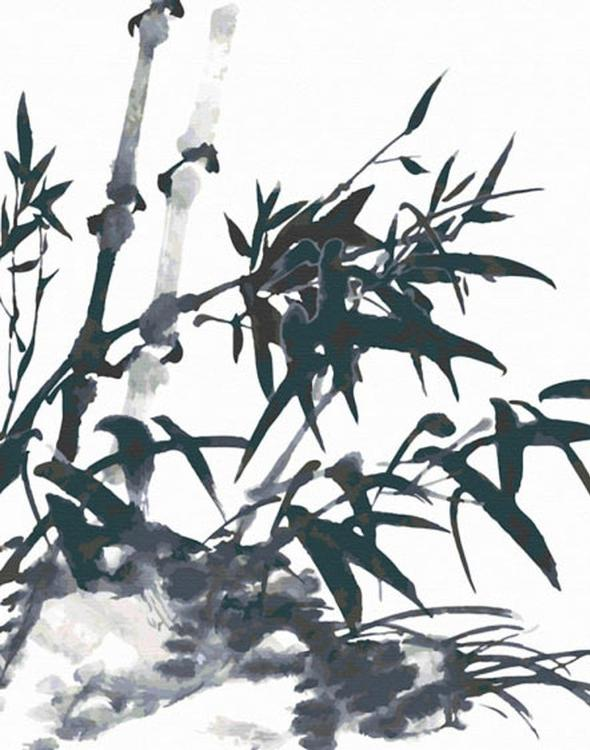 Картина по номерам «Ветки бамбука»Molly<br><br><br>Артикул: G210_M<br>Основа: Холст<br>Сложность: средние<br>Размер: 40x50 см<br>Количество цветов: 24<br>Техника рисования: Без смешивания красок